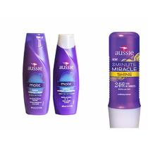 Kit Aussie - Shampoo E Condicionador Moist + Mascara Shine