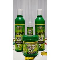Kit Crece Pelo Shampoo + Condicionador + Mascara + Ampola