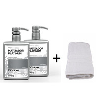 Kit Platinum Matizador 500ml Dicolore Desamarelador+brinde