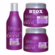 Platinum Blond Shampoo + Máscara + Btox 250 Forever Liss