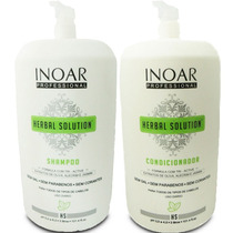 Kit Salão Inoar Herbal Solution Shampoo E Condicionador 3 L