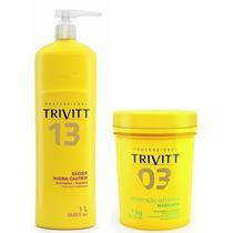 Cauterização Gloss Hidra Cauter Trivitt 1l + Hidratação 1kg