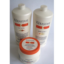Kit Kerastase Nutritive Sh Satin1l+cond1l+masque Grossos500g