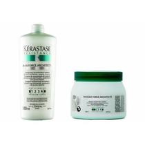 Kérastase- Shampoo 1l Máscara 500g Force Architecte+ Válvula