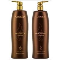 Kit Lanza 1 Litro Shampoo + Condicionador Keratin Oil 1000ml