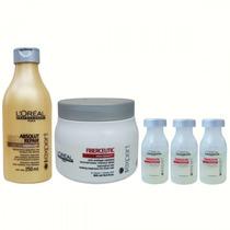 Kit Tratamento Loreal Fiberceutic Grossos + Absolut Repair
