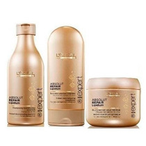 Kit Loréal Absolut Repair (shampoo, Mascara E Condicionador)