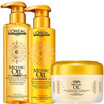 Loreal Mythic Oil Kit Shampoo, Condicionador E Máscara
