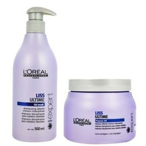 Loreal Liss Ultime Kit Shampo 500ml E Mask 500g