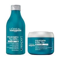 Loréal Kit Pro Keratin Refill Shampoo 250ml + Mascara 200ml