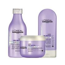 Loréal Kit Liss Unlimited 3 Produtos (trio Manutenção)