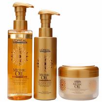 Loreal Mythic Oil Kit Shampoo 250ml Cond. 190ml E Masc. 200g