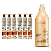 Kit Loréal Ampola Powerdose - 12 Unidades + Shampoo 1,5l