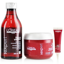 Kit Loreal Prof Force Vector - Shampoo + Máscara + Ampola