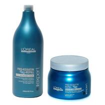 Loreal Pro Keratin Refill Shampoo 1500ml + Mascara 500ml