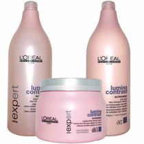 Kit Lumino Contrast Shampoo,condicionador E Máscara Grandes