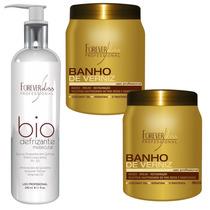 2 Un. Banho De Verniz + Bio Defrizante - Forever Liss