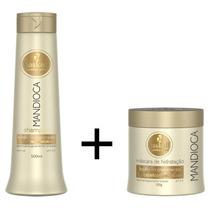 Kit Haskell Mandioca Shampoo 500ml + Máscara Hidratação 500g