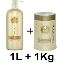 Kit Haskell Mandioca Shampoo 1litro + Máscara Hidratação 1kg