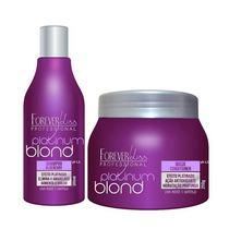 Forever Liss Kit Platinum Blond Matizador + Brinde
