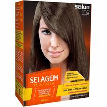 Kit Salon Line Selagem Redutora Todos Os Tipos De Cabelos