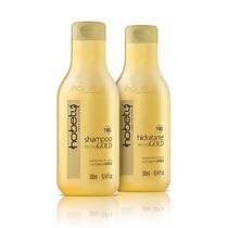 Kit Tecno Gold Shampoo E Condicionador 300ml Hobety