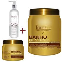Banho De Verniz 250g + 1 Kg + Escova Progressiva Temporária