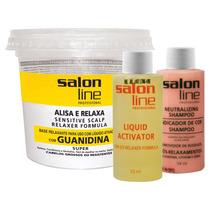 Kit Alisante Salon Line Guanidina Super Cabelos Grossos