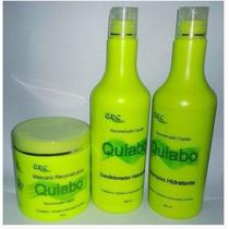 Kit De Tratamento De Quiabo Shamp. Cond. Masc.500ml + Frete
