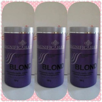 Kit 3 Unidades De Pó Descolorante 500 Gr Cd - Magnific Hair