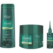 Shampoo Máscara E Fortalecedor Alumã Antiqueda E Refrescante