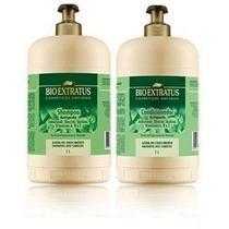 Kit Jaborandi Antiqueda Bio Extratus Litrão Shampoo Cond.