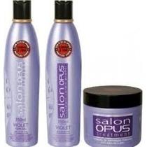 Kit Shampoo, Condicionador, Máscara Salon Opus Desamarelador
