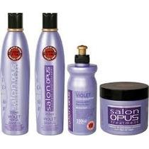 Kit Shampoo, Condic, Máscara, Creme Desamarelador Salon Opus