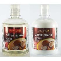 Kit Shampoo Condicionador Oleo De Coco Hidratação Capilar