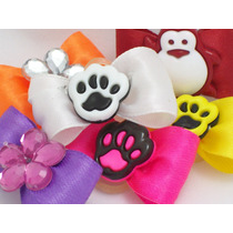 20 Laços Pet Shop Resinados Varias Cores Frete Unico