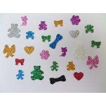 Kit 100 Lacinhos Pet Shop Adesivos Eva Para Cachorro E Gatos