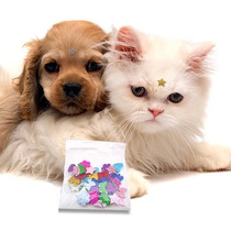 Frete Grátis 200 Adesivos Colantes Eva Com Glitter P/ Cães