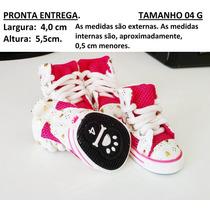 Sapato Tênis Tela Para Cachorro Rosa Pink Tamanho 04 G