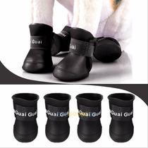 Roupas Cães - 4 Sapatos Em Borracha Siliconada - Tam. P