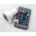 Lâmpada Dicroica Led Rgb + Controle 3w Bi-pino Gu-10 - Spot!