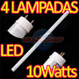 Kit 4 Lâmpadas Fluorescente Led Alto Brilho 10 Watts Real