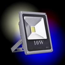 Refletor De Led 10w Super Branco Slim Bivolt Forte Holofote