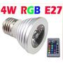 Lâmpada De Led Spot 4w Rgb Colorida Com Controle Remoto Ej27