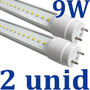 Kit 2x Lâmpada Led Fluorescente Tubo Tubular T8 60cm 9w