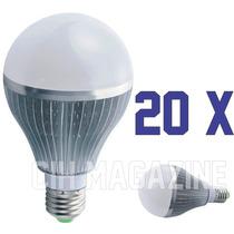 20 Lampada Led 7w Bulbo Bivolt E27 90% Mais Econômico Bivolt