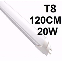 Kit 10 Lâmpada Led Tubular T8 120cm 1,2mt 20w Branco Frio