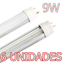Kit 6x Lâmpada Led Fluorescente Tubo Tubular T8 60cm 9w