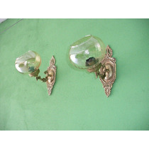 Arandelas Bronze Cúpulas De Vidro Espelhadas - 01 Par (314)