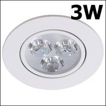Spot Super Led Embutir Direcionável Branco 3w Gesso Sanca